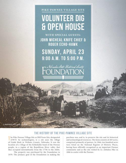 Pike Pawnee Site VolunteerDig Open House invite